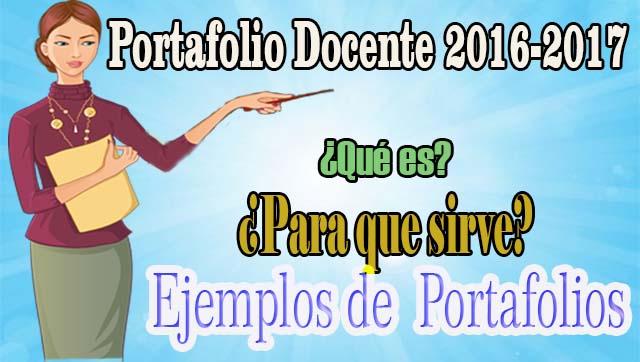 Portafolio docente qu es para que sirve ejemplos for Docentes en el exterior 2016