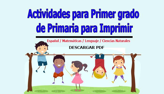 Actividades para Primer grado de Primaria para Imprimir - Portal de ...